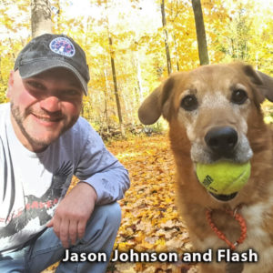 Jason Johnson and his dog Flash, co-founders of Project K-9 Hero
